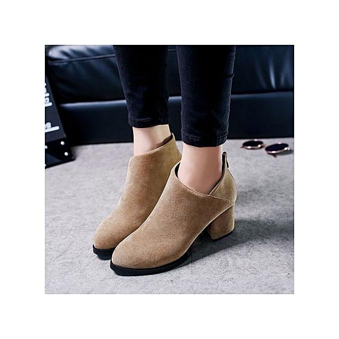 Style British Stylish Waterproof Generic Suede Heels Buy Thick tdrhQs