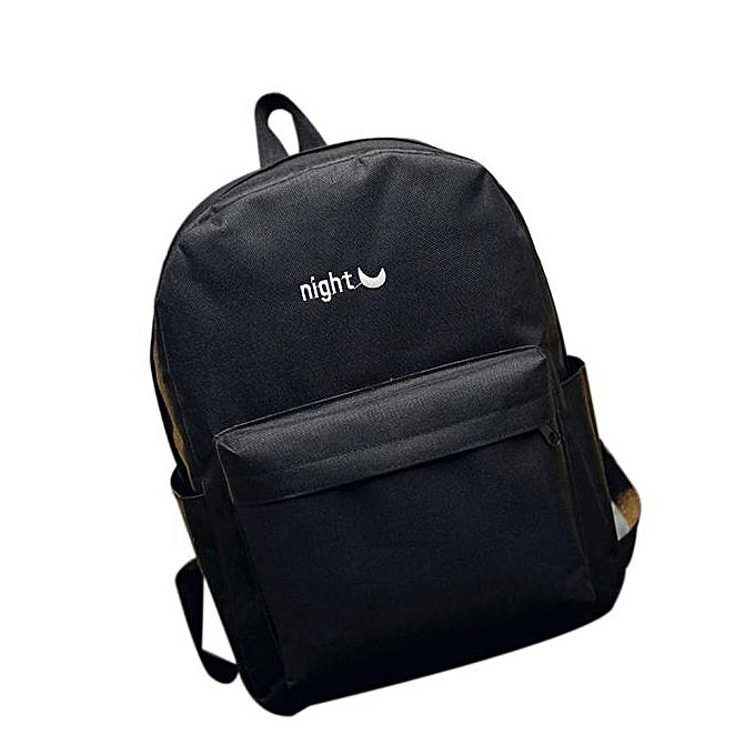 a8e08b475 Hiamok _Women Simple Canvas Satchel Backpack Rucksack Shoulder School Bag BK