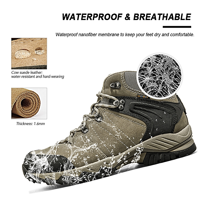 1e92e8a6d6f Men Hiking Boots Lightweight Breathable Waterproof Outdoor Backpacking  Climbing Hiking Shoes Boots