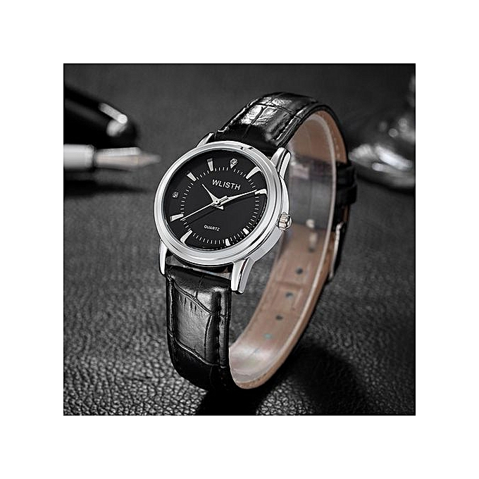 High End Watches >> Buy Fashion Refined Couple Leather Waterproof High End Watch Gold