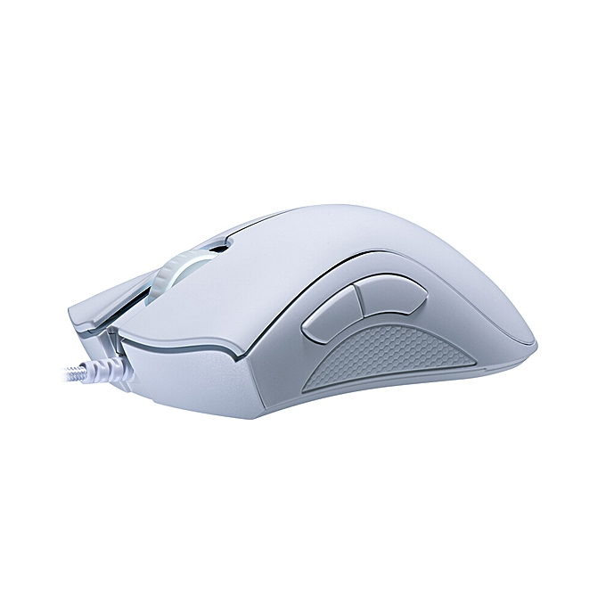 Razer DeathAdder Essential Wired Gaming Mouse 6400DPI Optical Sensor 5  Independently Programmable Buttons Ergonomic Design(White)