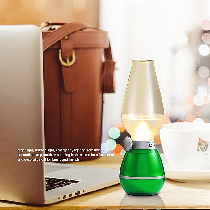 Camping Night With Control Green Blow Bedroom Led Desk For Light Retro Lamp 3L5jq4cAR