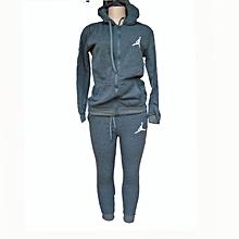 a5c2b4ca2acf Designer hooded tracksuit-Grey.