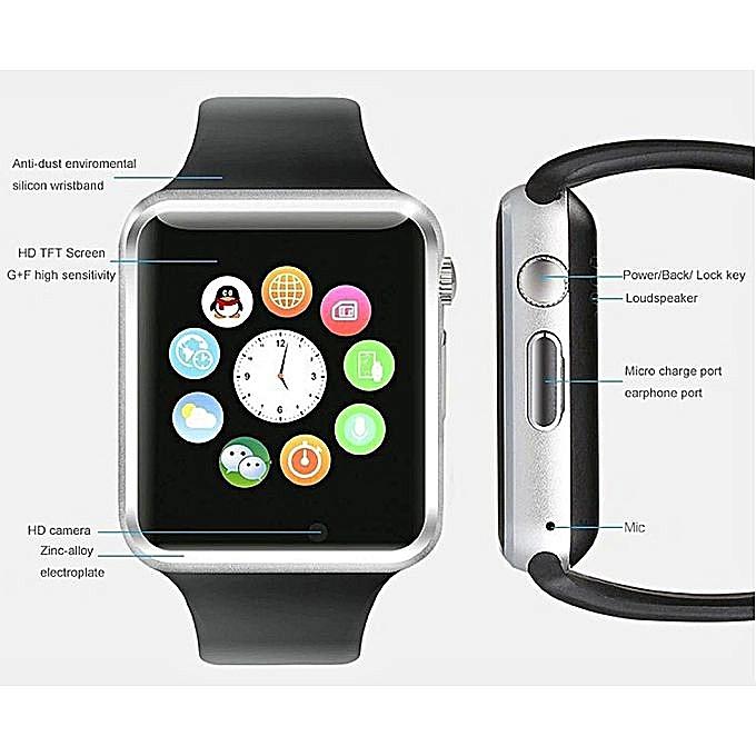 0713abb3a31 Original Accessories Dubai Bazaar A1 Smart Watch - Black