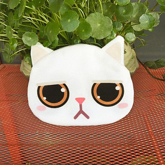 db9d992b432b Women Cute Print Cat Face Girl Plush Coin Purse Change Purse Bag Wallet