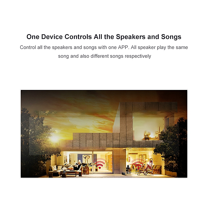 Wireless WiFi Audio Receiver Music Adapter Streams Multi-room Audio System  Wireless Audio & Music to Speaker from Mobile Device