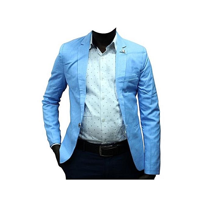 Blazers Jumia: New Faint Patterned Men's Blazer - Blue
