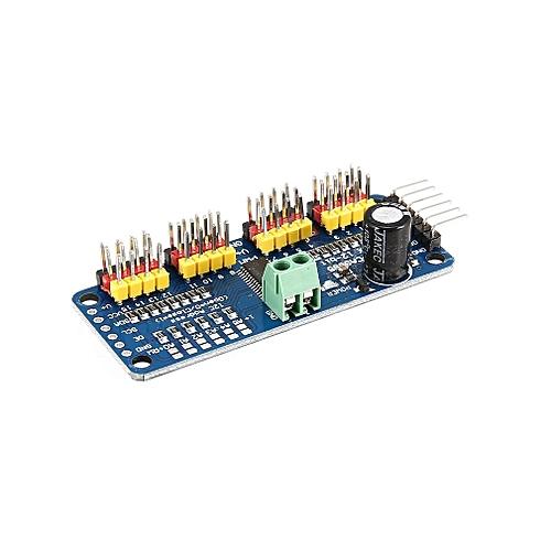 PCA9685 12 bit 16 Channel PWM Servo Motor Driver I2C Module for Arduino  Robot Blue