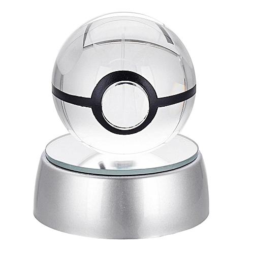 Ball Light Lamp Crystal Led Night Pokeball 3d 50mm Pokemon Pikachu NXZ8kwn0OP