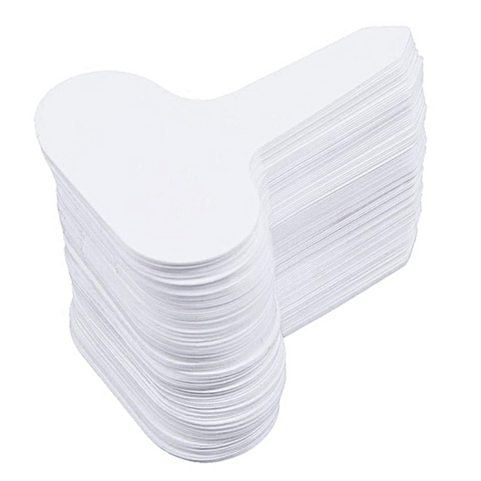 100Pcs Plastic T-type Garden Tags Plant Flower Label Nursery Thick Tag  Markers white