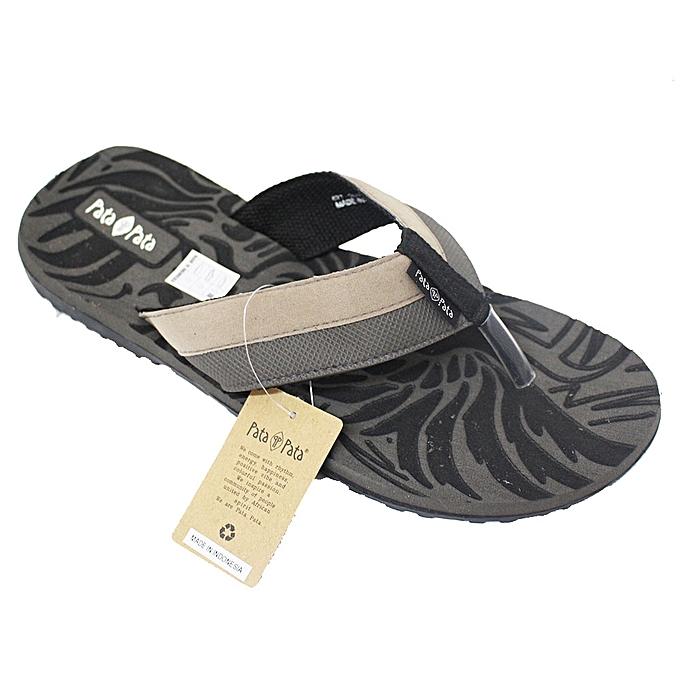 4036775e125 Bata 877-2040 Patapata Slide Flip Flops - Grey