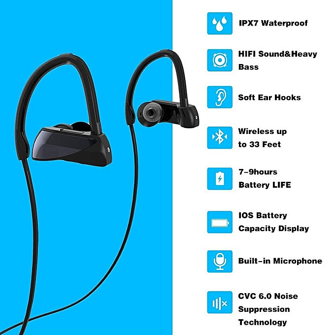 Buy Generic 3D Bluetooth Earphone, Wireless Running Headphones ...
