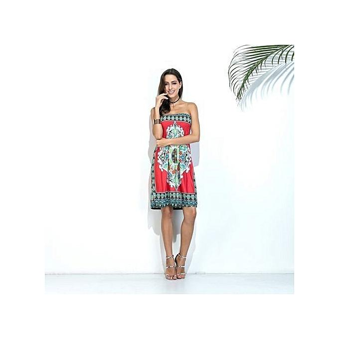 25ddaea73b ... Sexy Summer Dress Vintage Bohemian Vestidos De Festa European Style  Beach Print Harajuku Mujer Fashion Women