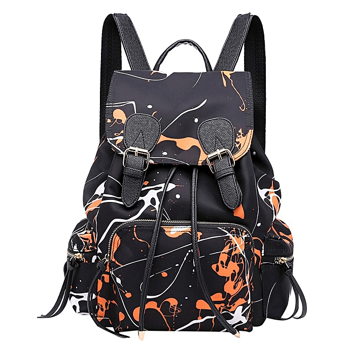 c483a25f545 Haimok Soft Leather Casual Fashion Women Nylon Graffiti Handbags Backpack  Shoulder Bag