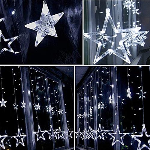 Buy A General (Xiuxingzi) LED Stars Christmas Hanging Curtain Lights String Net Xmas Home Party Home Decor online | Jumia Uganda