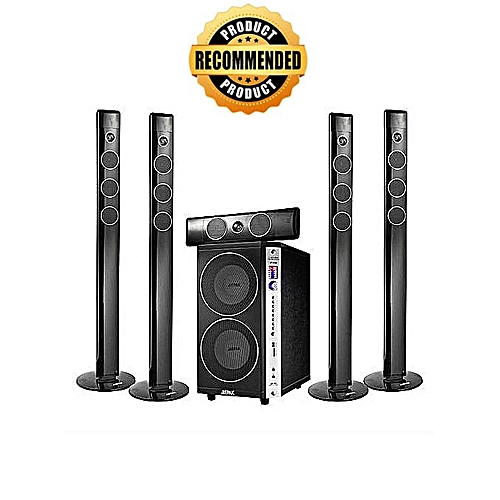 Jiepak JP-8088 Top Rated Under World's Classy Hometheater Systems-Shinny  Black