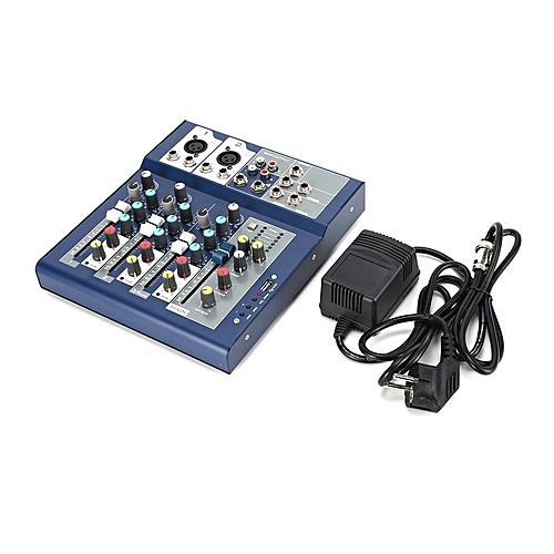 EU Plug 230V Live Mixing Studio Audio Sound Console Network Anchor  blue&black