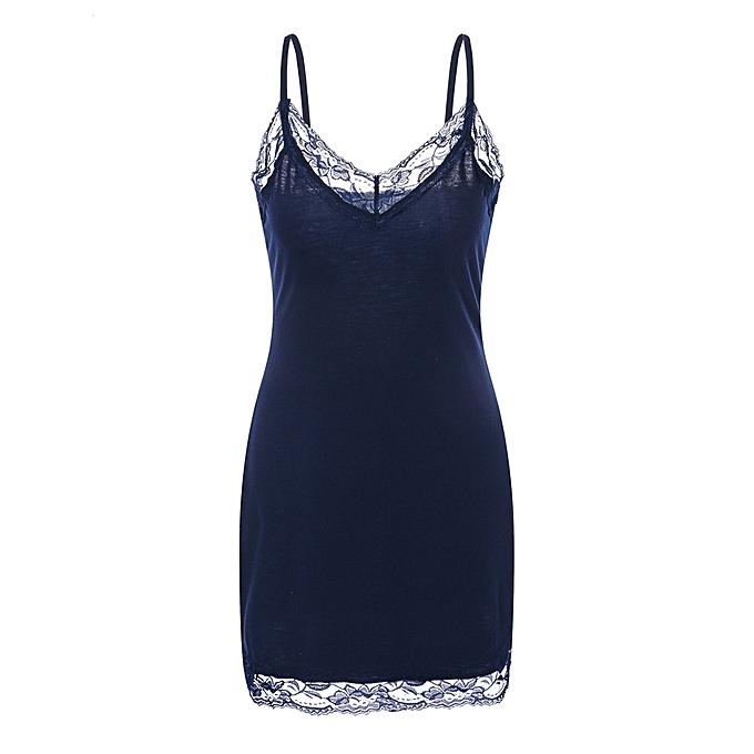 a8e82b1f03e Hiamok Women's Fashion Lace Spaghetti Strap Lace Trim Tunic Tank Camis Top