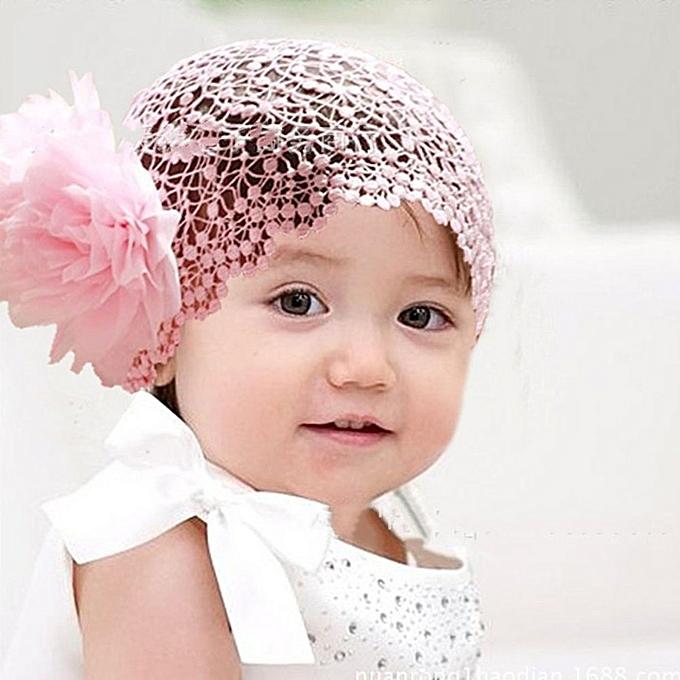 f28fec55e Baby Girl Newborn Flower Headband Elastic Wide Lace Hair Accessories Photo