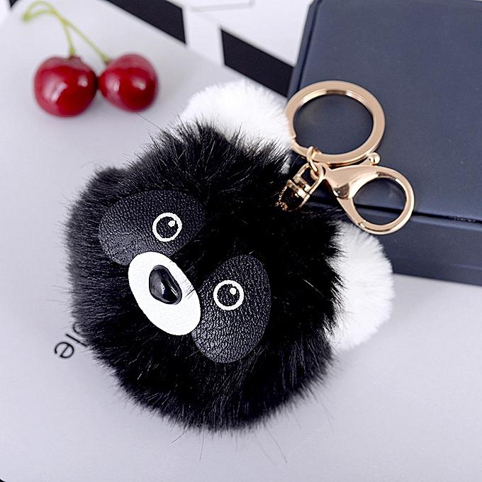 Buy Generic Cute Panda Fur Ball Cell Phone Car Keychain Pendant