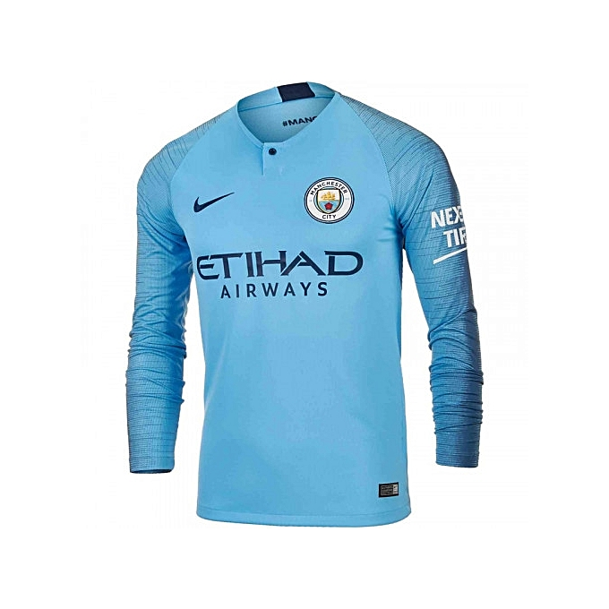 508e939dc6e Replica Manchester City 2018/19 Home Jersey, Long Sleeve - Blue