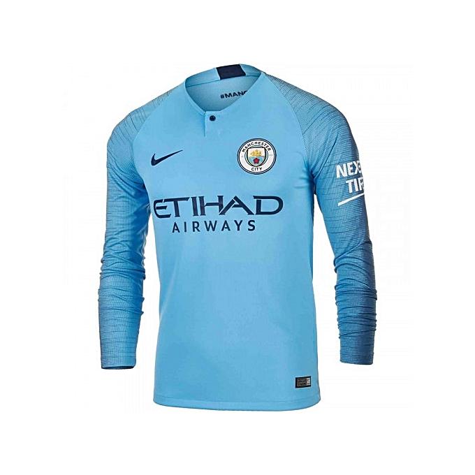 508e939dc6e Replica Manchester City 2018/19 Home Jersey, Long Sleeve - Blue