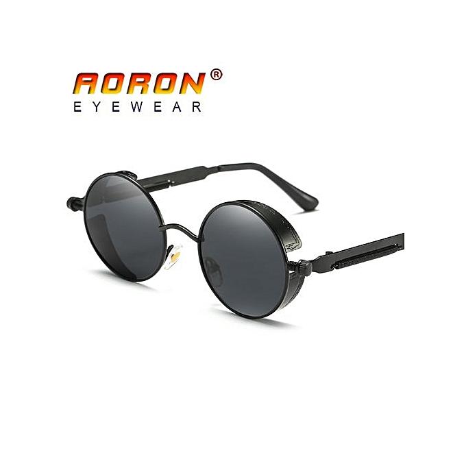 67bd4c130 Brand Men Polarized Sunglasses Gothic Steampunk Coating Mirrored Round  Circle Sun Glasses Retro UV400 Vintage Eyewear