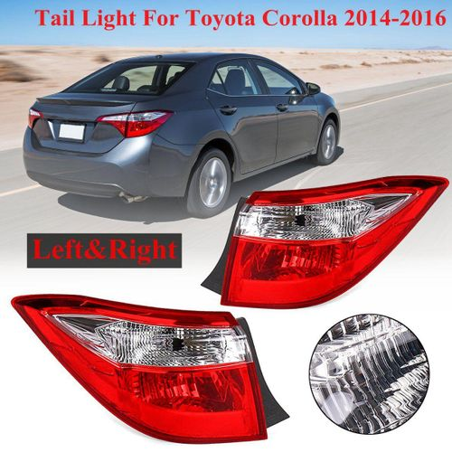 Pair Left + Right Red Rear Tail Lights Brake Lamps For Toyota Corolla  2014-2016