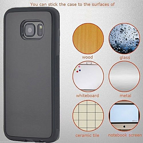 purchase cheap e3436 86a37 [2 Pack] Samsung Galaxy S7 Edge Case,Galaxy S7 Edge Case,S7 Edge Anti  Gravity Case Anti-Gravity Magic Selfie Sticky Nano Protective Shockproof  Case ...