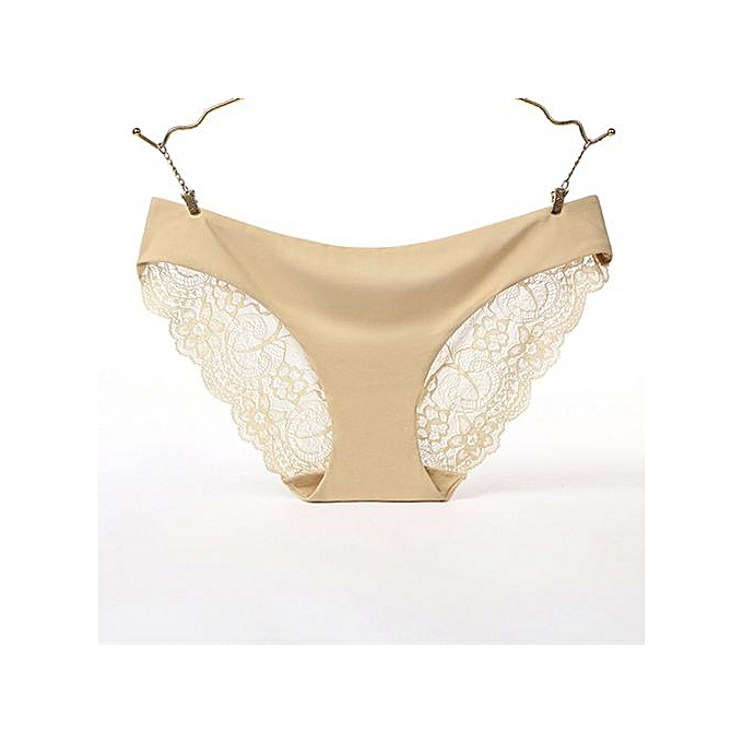 1adb8555cb4 Lace sexy ladies panties Ice silk one-piece seamless underwear cotton  quilted low waist briefs