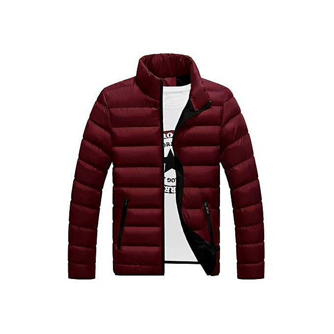 f53229d48a Fashion new jacket male trend student youth sports coat men's cotton jacket  jacket-Red