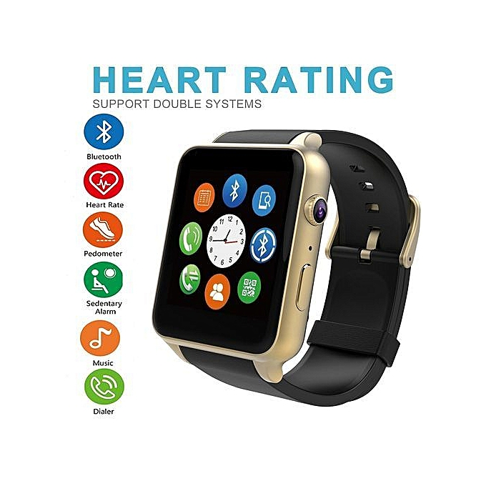 GT88 Sport Smartwatch Heart Rate Monitor Bluetooth NFC Waterproof Smart  Watch Support SIM Card For IOS Android - Black Gold