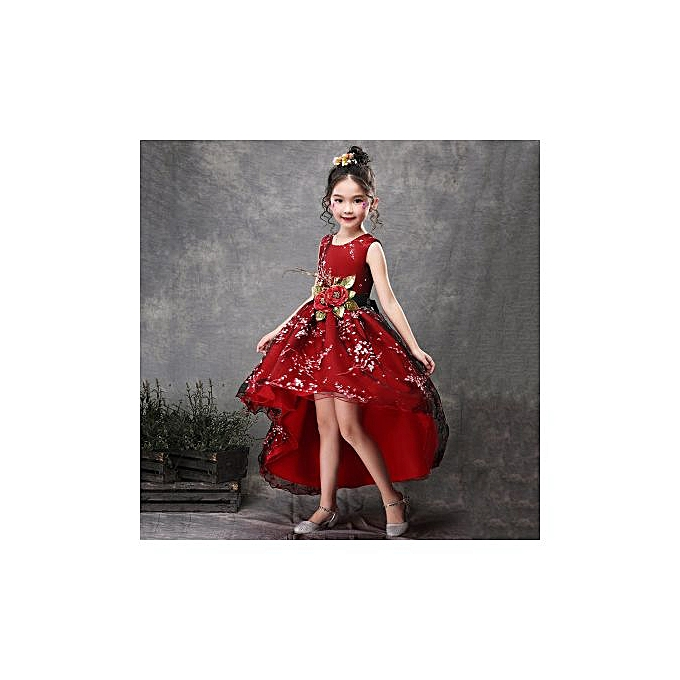 3a5d995ca5 Girls Dress Princess Dress Pompous Dress Piano Dress Drag Tail Flower Child  Dress Hand-made Flower Wedding Dress Runway Dress