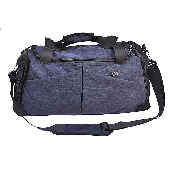 Generic Sports Gym Travel Duffel Bag with Shoe Compartment - Blue ...