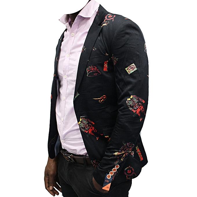 Blazers Jumia: New Men's Slim-Fit Blazer Floral - Black
