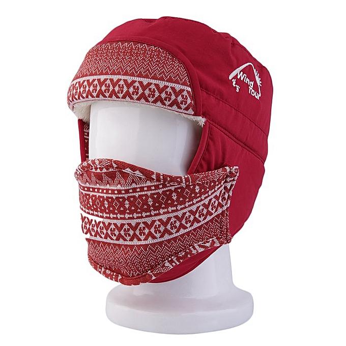 32f066fa5 Fashion Unisex Warm Winter Cap Hat Lady Ear Flaps Ski Hats Earmuffs Mask red