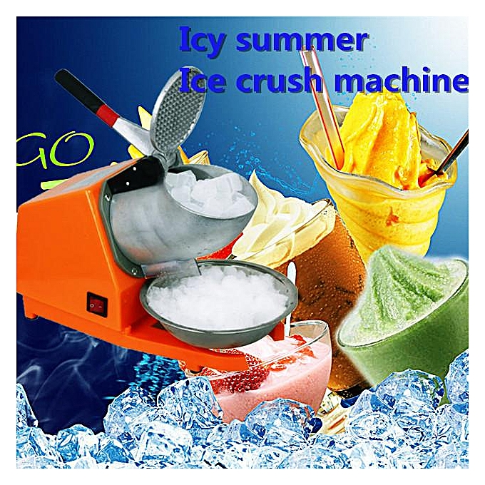 380W Snow Cone Maker 65KG/Hr Electric Ice Crusher Smoothie Machine Ice  Shaver
