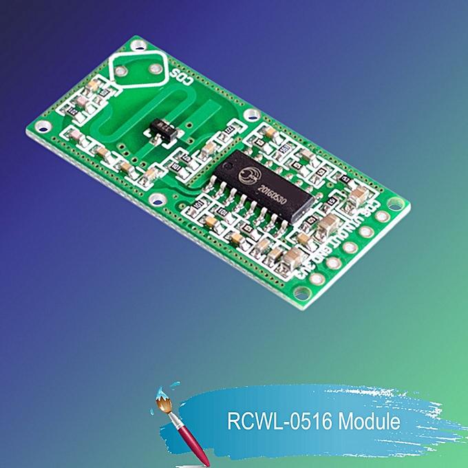 RCWL-0516 Doppler Radar Sensor Motion Detector Microwave Module for Arduino  green