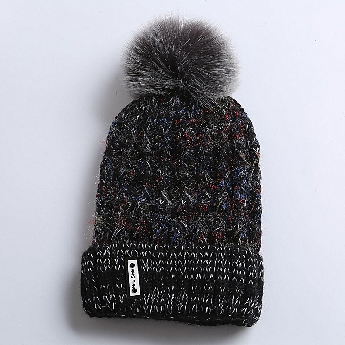 353f23a59 Buy FASHION Women Knit Wool Cap Winter Solid Cashmere Ski Hats Real ...