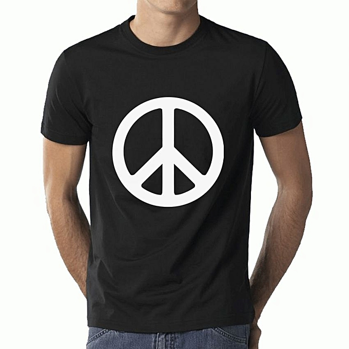 Buy Peace Symbol T Shirt Black Best Price Online Jumia Uganda