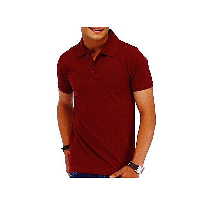 36b0e571d Buy Other Plain Office And Casual Men's Polo T-Shirts - Maroon ...