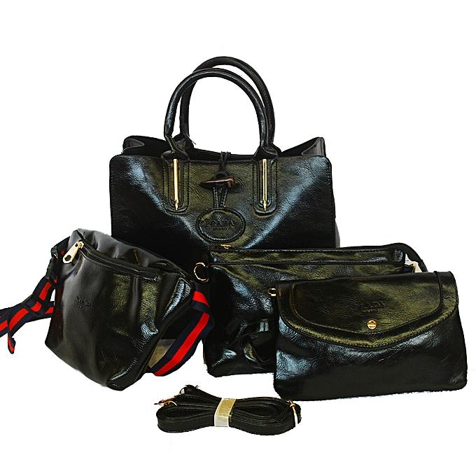 15504404 Prada Ladies 4 in 1 Hand Bag - Black