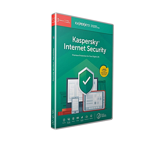 Kaspersky Internet Security 2019- 3 Devices- 1 Year- PC/Mac/Android