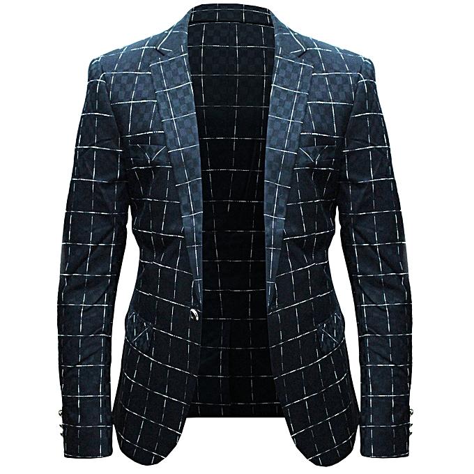 Stripe Checkered And Designer Men's Blazer