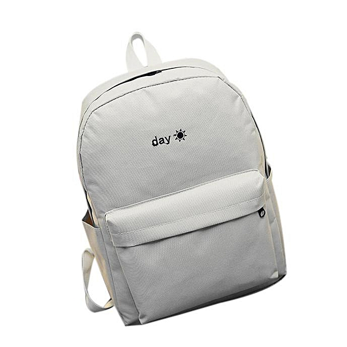 78cb8cf88 Hiamok _Women Simple Canvas Satchel Backpack Rucksack Shoulder School Bag  Light Gray