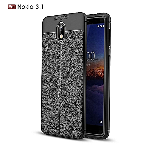 promo code 39496 eb981 Generic Nokia 3 Silicone Case, Litchi Pattern TPU Anti-knock Phone Back  Cover For Nokia 3 - Black