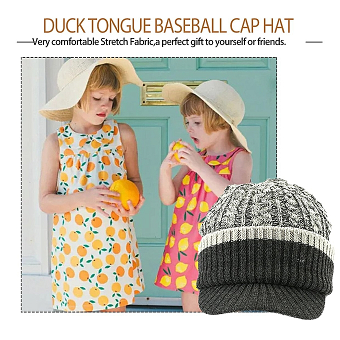 Fashion Children S Hats Autumn Winter Hand Knitted Duck Tongue