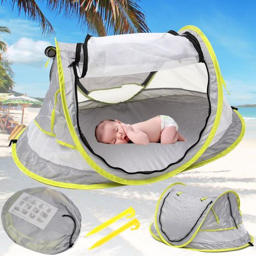 quality design dc9aa 1a042 Pop Up Portable Beach Tent Kids Canopy Sun Shade Shelter Foldable Anti-UV  Baby Travel Bed