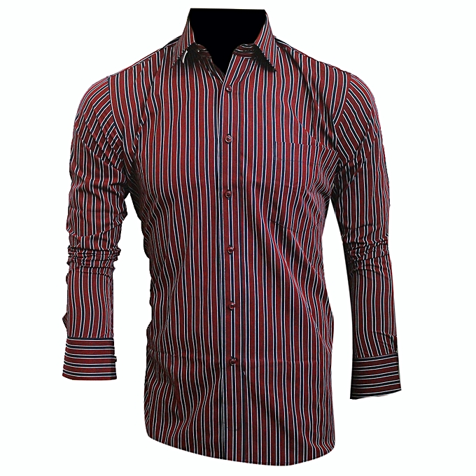 2a4329c7fcb7 Buy Other Dressy look perfect shirt-Navy-Blue and maroon strips ...