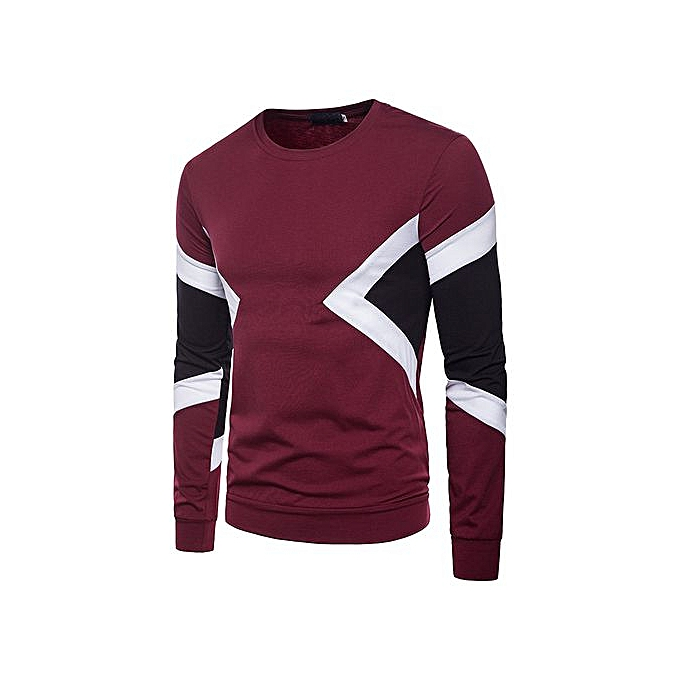 29d140933c0e men's casual autumn and winter models with three-color waist and round neck men's  long